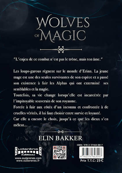 Photo verso du livre: Wolves of Magic  par Elin Bakker