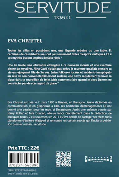 Photo verso du livre: Servitude par Eva Christel